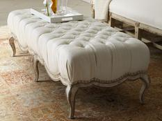 Beautiful Linen Bench by Caracole:  $879.00