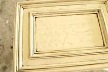Oak stained in cream.